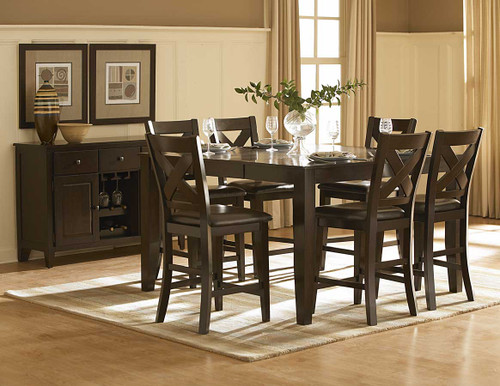 CROWN POINT COUNTER HEIGHT TABLE 5 PCS SET