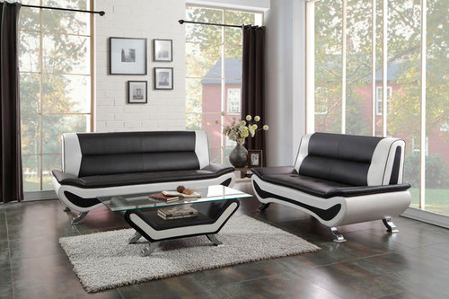 VELOCE COLLECTION SOFA AND LOVE SEAT 2 PCS SET-8219
