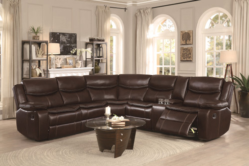 BASTROP SECTIONAL DARK BROWN
