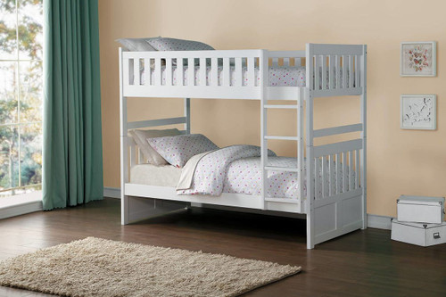 GALEN TWIN OVER TWIN BUNK BED WHITE