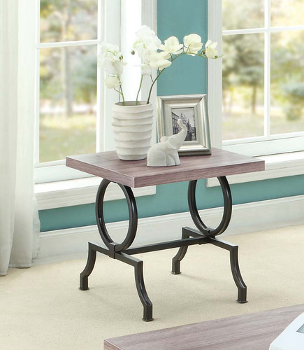 CHAMA FAUX WOOD TOP END TABLE