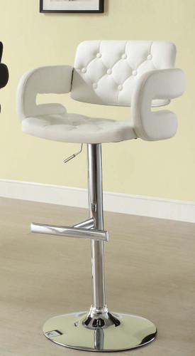 2PC RIDE AIRLIFT SWIVEL STOOL IN WHITE