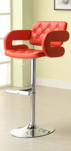 2PC RIDE AIRLIFT SWIVEL STOOL IN RED