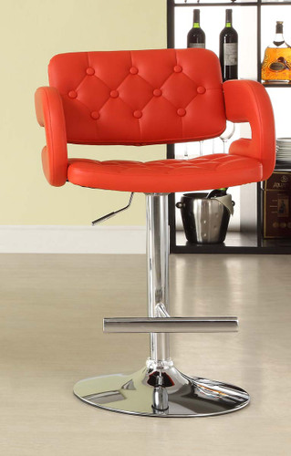 RIDE RED AIRLIFT SWIVEL STOOL 2 PCS SET-1178RED