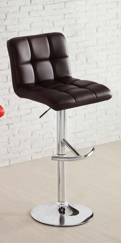 RIDE BROWN LEATHER SWIVEL STOOL 2 PCS SET