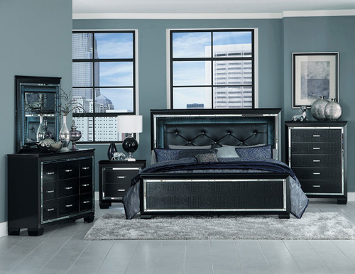 ALLURA COLLECTION COMPLETE BEDROOM SET