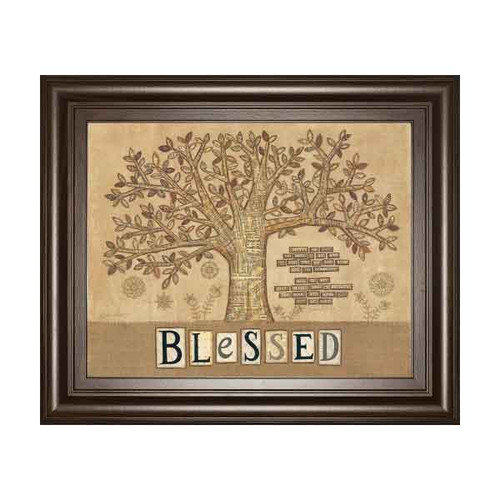 BLESSED TREE OF LIFE BY ANNIE LAPOINT 22x26
