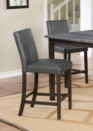 POMPEI COUNTER HEIGHT CHAIR GREY 2 PCS SET