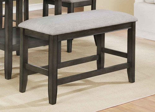FULTON COUNTER HEIGHT BENCH GREY