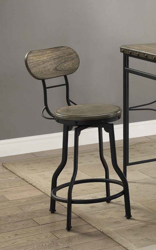KENNETH SWIVEL COUNTER HEIGHT STOOL 2 PCS SET