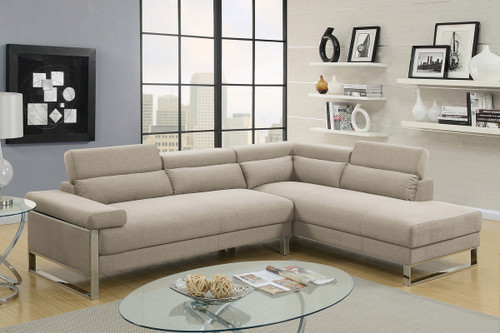 LINA CONTEMPORAY SECTIONAL IN BEIGE