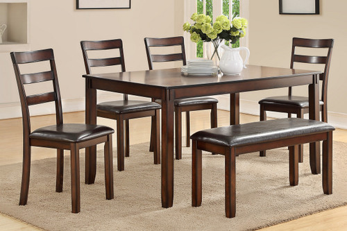 6PCS DINING TABLE SET ESPRESSO