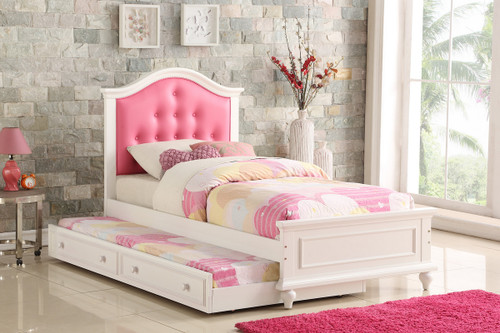 TWIN BED W/TRUNDLE PINK