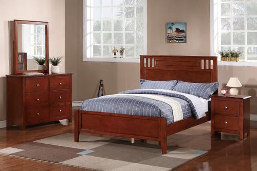 OAK FINISH TWIN/FULL BED FRAME