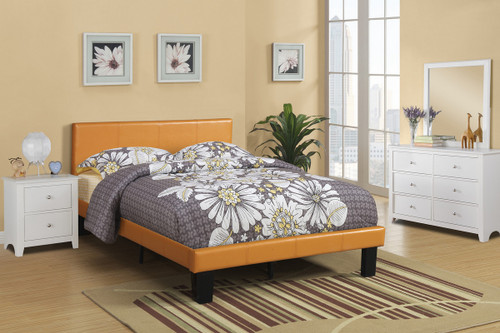 TWIN/FULL BED PU CITRUS FAUX LEATHER