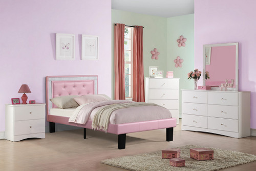 TWIN BED PU PINK