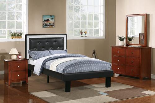 TWIN BED PU ASH BLACK