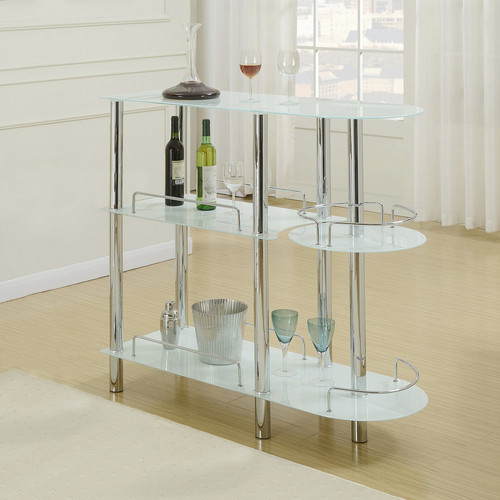 BAR STAND GLAS TOP WHITE