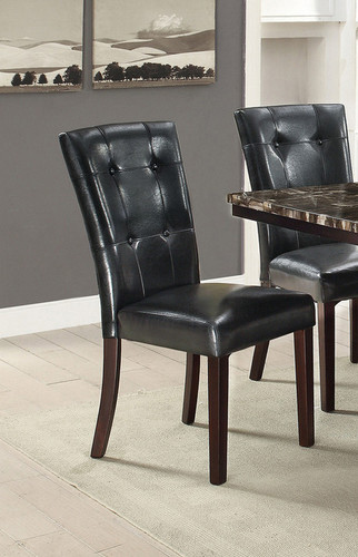 2PCS BLACK DINING CHAIR SET