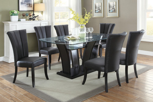 7PCS GLASS TOP ESP DINING TABLE SET