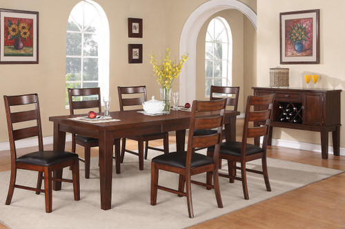 7PCS WOODEN DINING TABLE SET