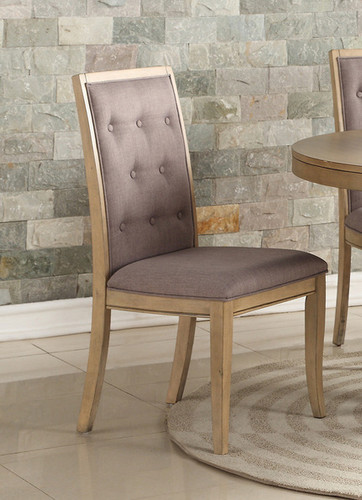 2PCS NATURAL WOOD DINING CHAIR SET