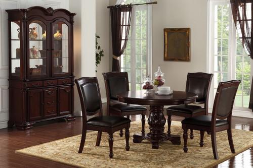 5PCS CHERRY ROUND DINING TABLE SET