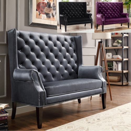 KAYLEE LOVESEAT IN GRAY BONDED LEATHER