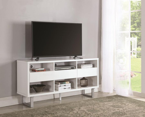 """High Glossy White Finish 60"""" TV CONSOLE"""