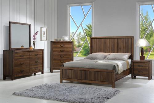 6 PCS BELMONT BEDROOM SET- WOOD HB
