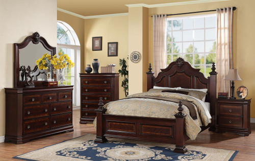 6 PCS CHARLOTTE BEDROOM SET