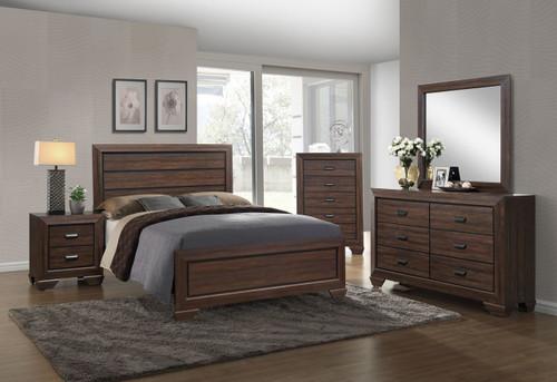 6 PCS FARROW CHOCOLATE BED