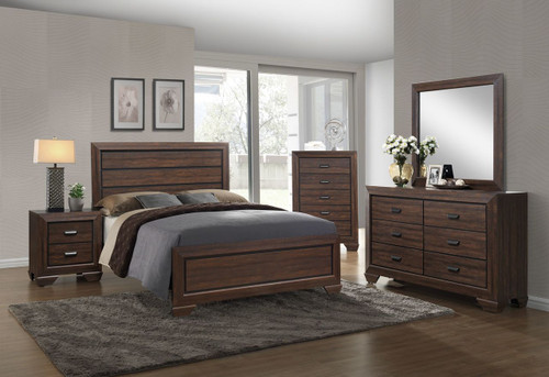 6 PCS FARROW CHOCOLATE BED SET