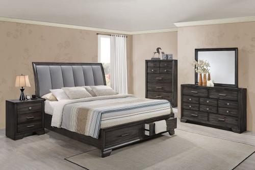 6 PCS JAYMES PLATFORM BEDROOM SET