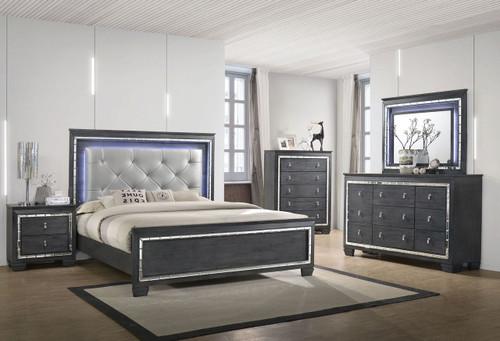 6 PCS PERINA LED BEDROOM SET