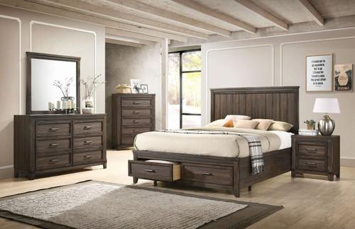 6 PCS PRESLEY PLATFORM BEDROOM SET