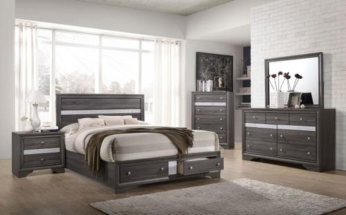 6 PCS REGATA PLATFORM GREY BED SET