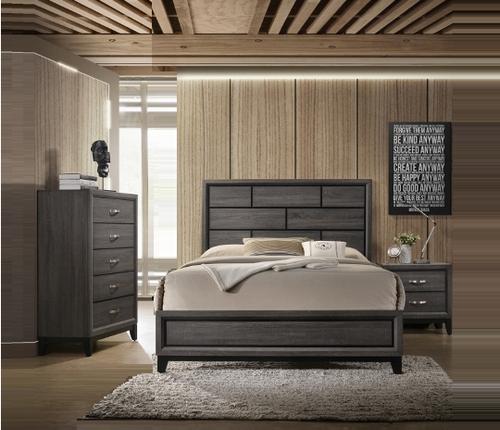 5 PC ACKERSON GREY BEDROOM SET