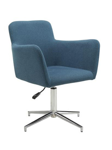 HEIGHT ADJUSTABLE CRYSTAL BLUE UPHOLSTERED DINING CHAIR (SET OF 2) BY SCOTT LIVING