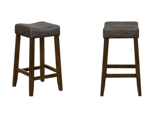 SEDA COUNTER HEIGHT STOOL 2PCS SET-2781C-24-DGY