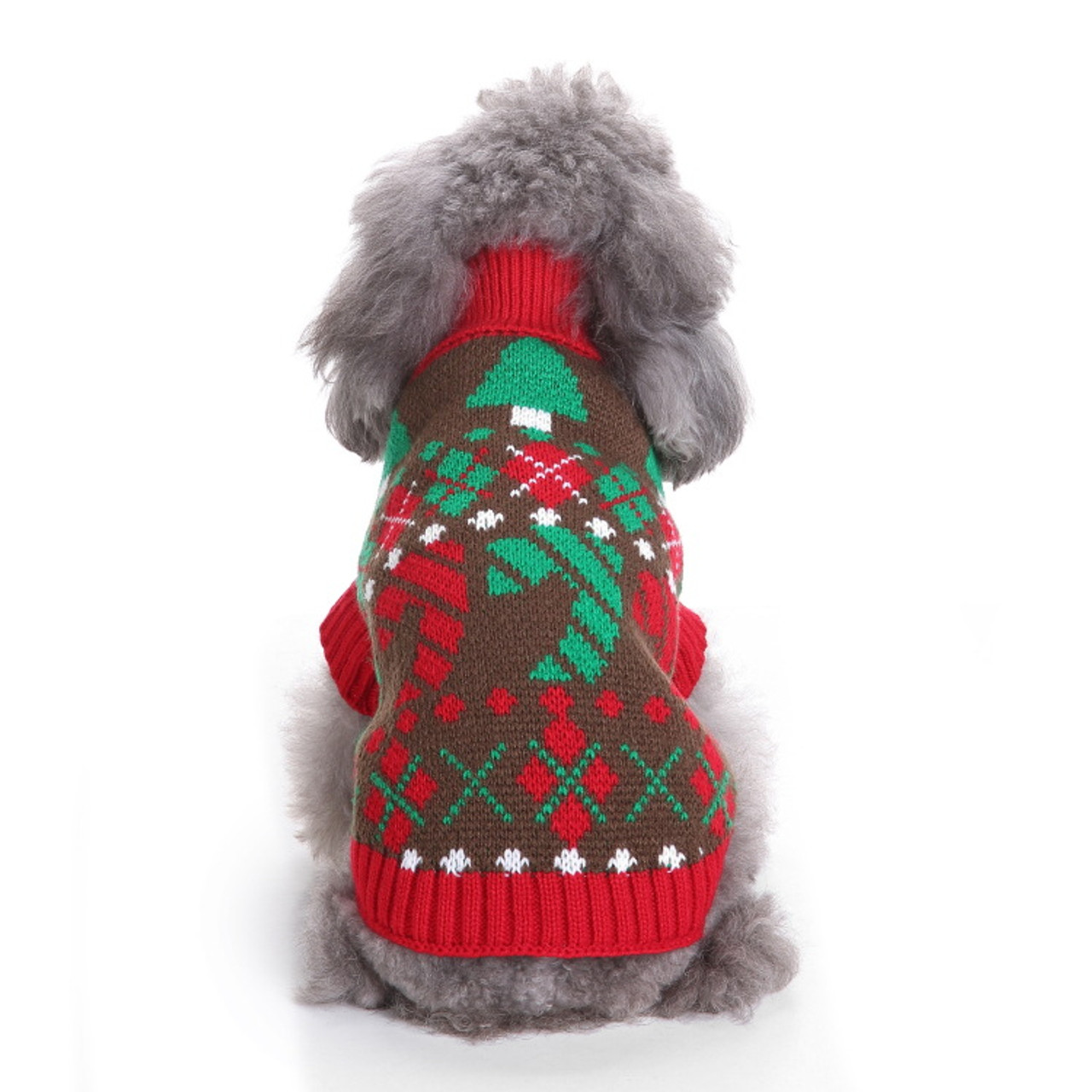 Pet Christmas Sweater Knit Turtleneck Pet Clothes Sweater