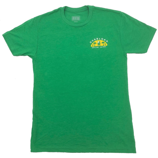 Overload - T-Shirt - Water Tower 2 - Kelly Green/Yellow