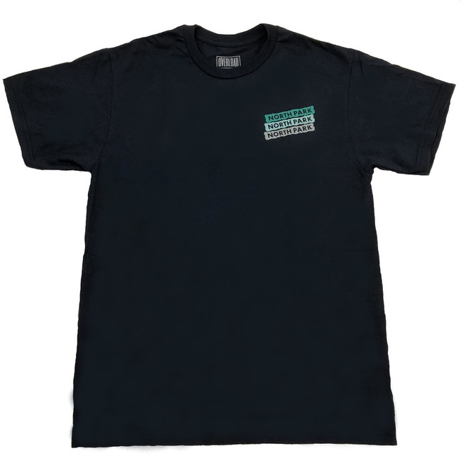 Overload - T-Shirt - North Park Sign - Navy/Teal