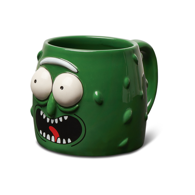 Primitive - Coffee Mug - Pickle Rick - Green