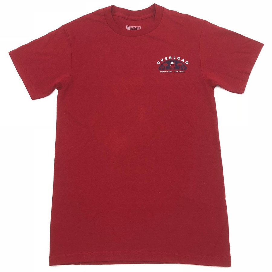 Overload - T-Shirt - Water Tower 2 - Red/Navy