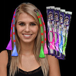 LED Light Up Braided Hair Extensions - 12 Pack Assorted