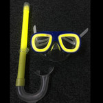 Glow in the Dark Under Water Snorkel and Mask with glow sticks included.