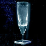 Liquid Activated Light-Up Champagne Flutes White