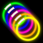 "8"" Premium Glow Bracelets (100-Pack) with Pre-Attached Connectors - Assorted Colors"
