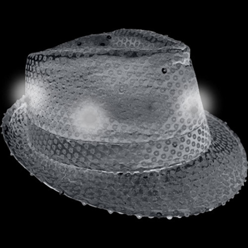 Light Up Fedora Hat Black